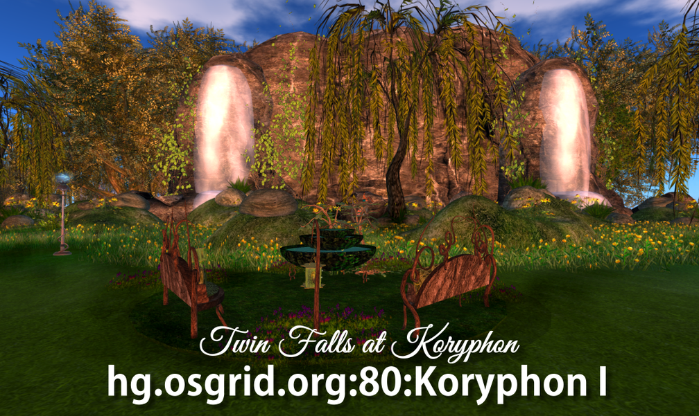 Twin Falls  at Koryphon, OS Grid, Koryphon I SMALL